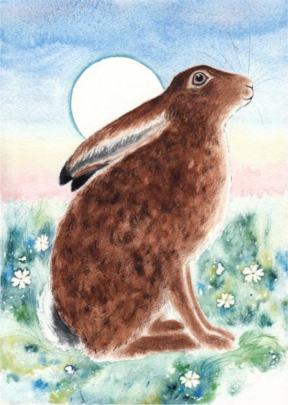 Hare and the Blue Moon